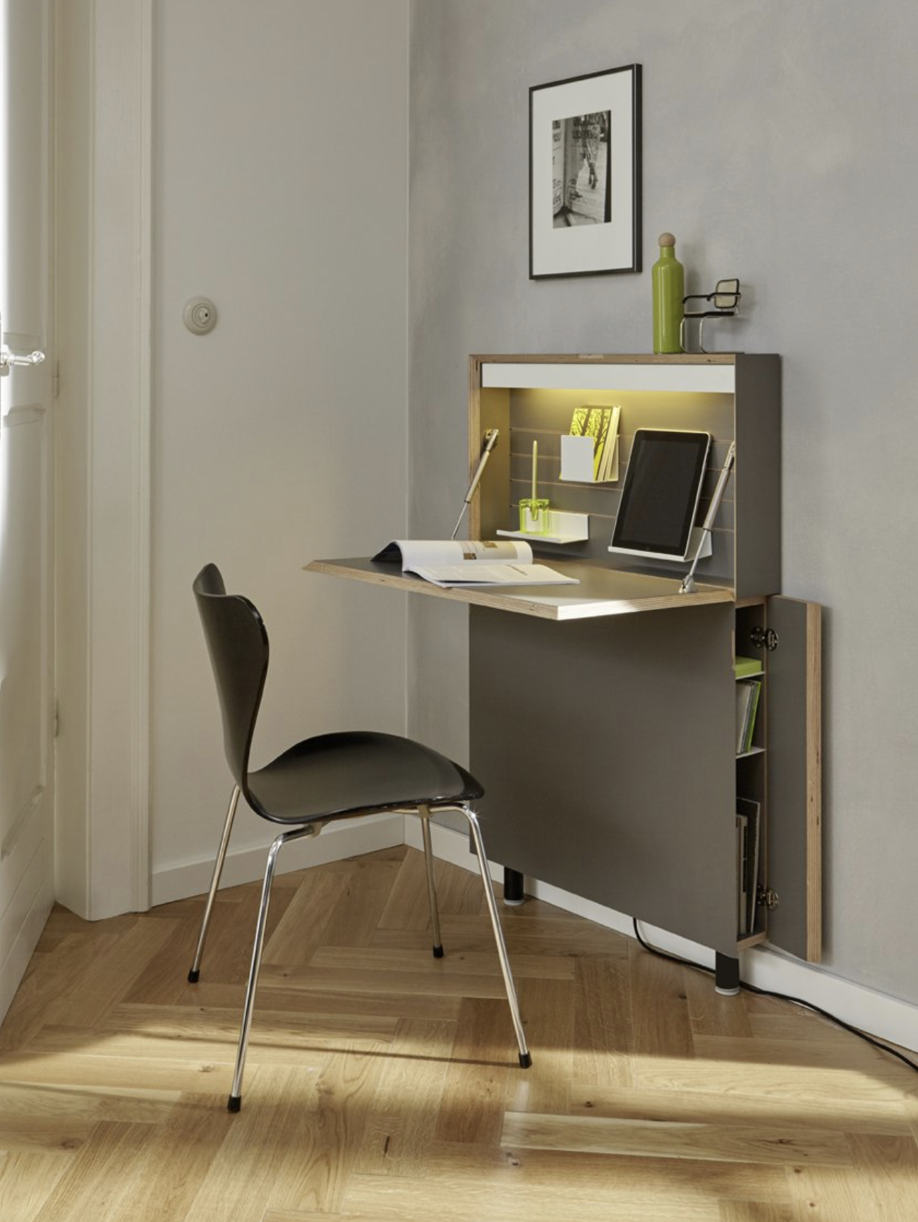 Secretary FLATMATE anthracite by Mueller