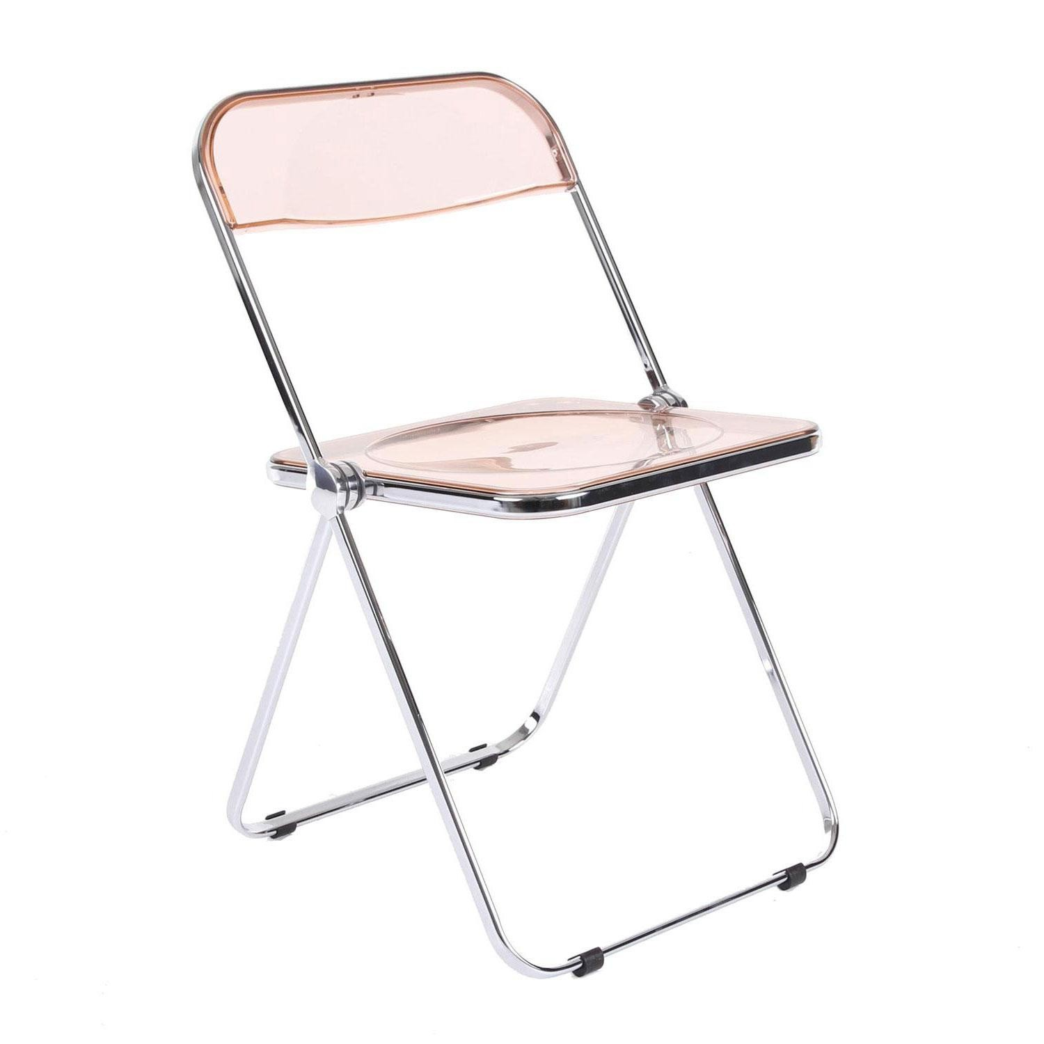 Castelli Folding chair PLIA, smoked pink